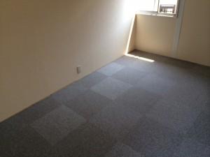 横浜市緑区 事務所のクロス工事、床タイルカーペット工事