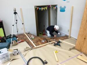 横浜市戸塚区の間仕切り壁の造作工事
