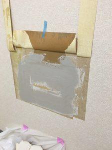 横浜市西区 事務所の壁穴補修工事
